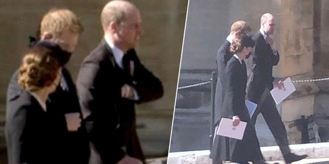Hé lộ sự thật chua chát sau khoảnh khắc Harry cùng vợ chồng Công nương Kate trò chuyện ở tang lễ Hoàng tế Philip - ảnh 1