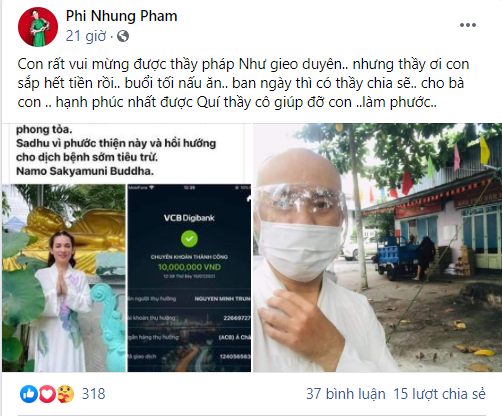 Phi Nhung bất ngờ đăng facebook than hết tiền, dân mạng hoang mang: Ơ kìa, sao bảo Hồ Văn Cường thi đại học xong sẽ trả nợ cơ mà? - Ảnh 1.