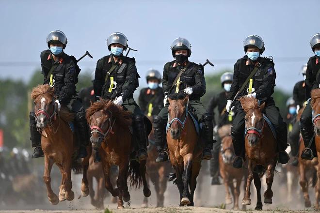 CSCĐ Kỵ binh: Sau hơn một năm huấn luyện, từ ngựa hoang đến những màn vượt rào, bổ nhào, phi nước đại bắn súng đỉnh cao - Ảnh 17.