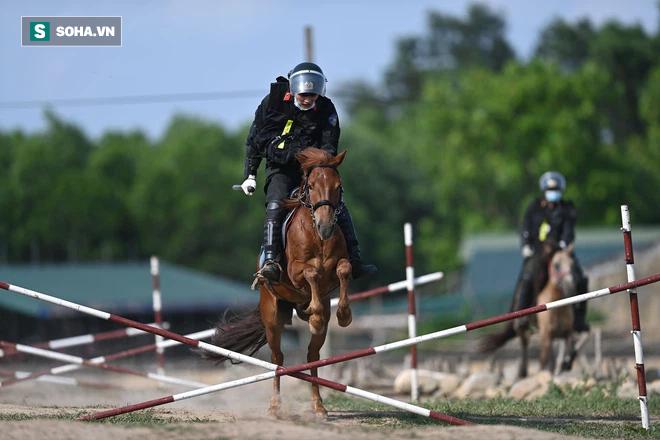 CSCĐ Kỵ binh: Sau hơn một năm huấn luyện, từ ngựa hoang đến những màn vượt rào, bổ nhào, phi nước đại bắn súng đỉnh cao - Ảnh 24.