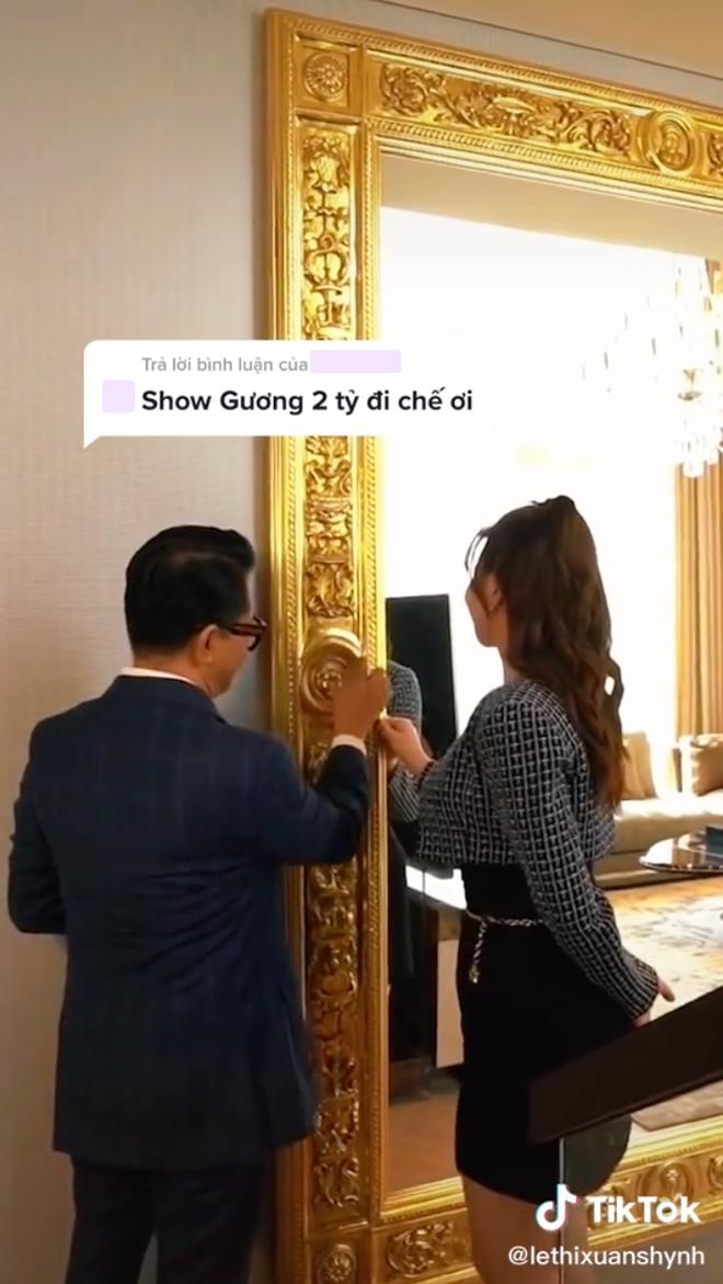 Thái Công gây choáng khi đặt vào nhà nữ đại gia tấm gương giá 2 tỷ, netizen kêu đưa 10 triệu mua về cho cái đẹp hơn - Ảnh 3.