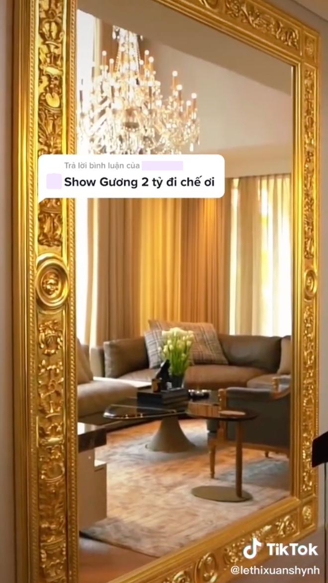 Thái Công gây choáng khi đặt vào nhà nữ đại gia tấm gương giá 2 tỷ, netizen kêu đưa 10 triệu mua về cho cái đẹp hơn - Ảnh 4.