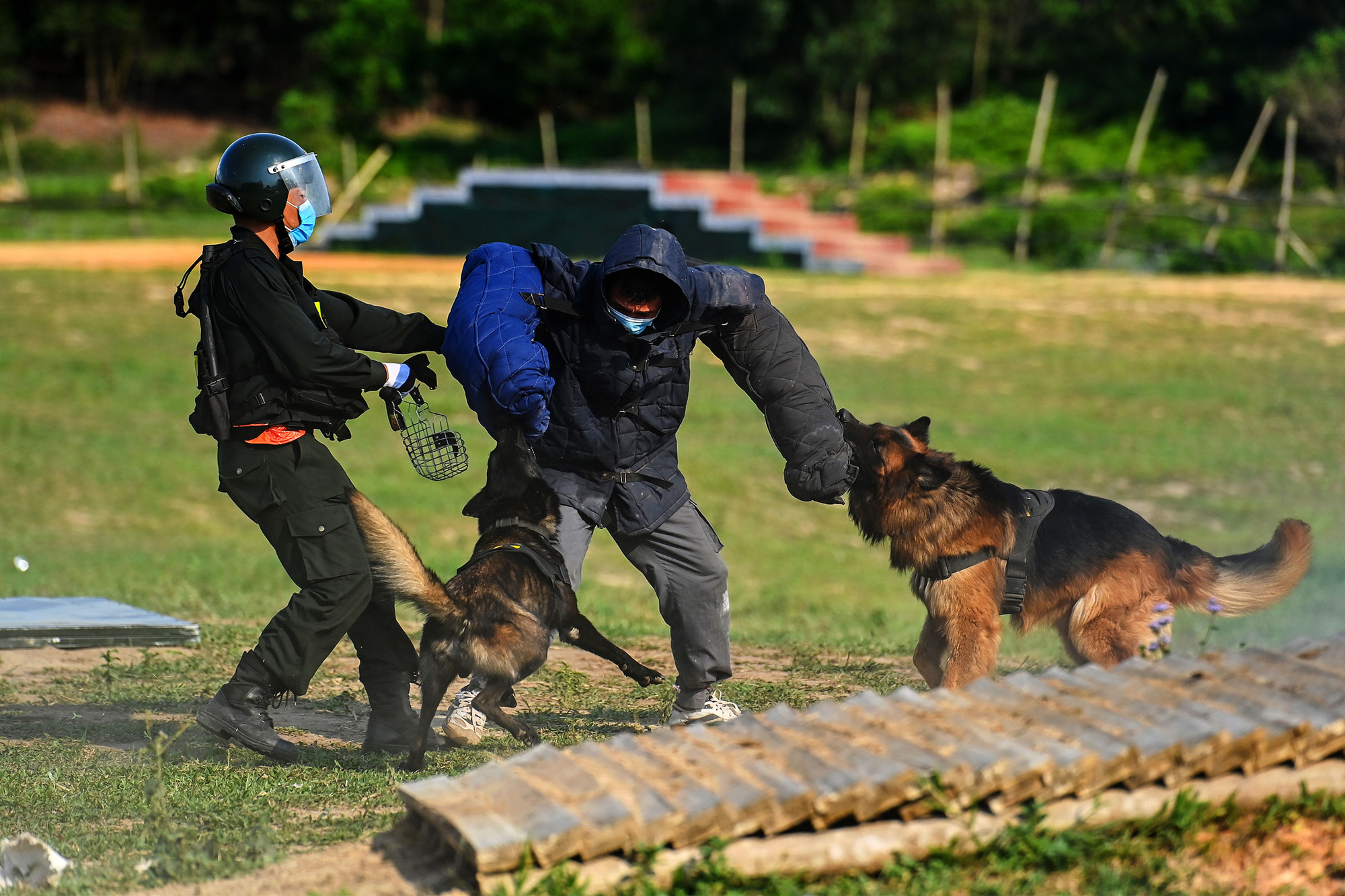 Mãn nhãn với màn biểu diễn võ thuật, nổ súng truy bắt tội phạm của Cảnh sát cơ động cùng những chiến binh đặc biệt - Ảnh 12.
