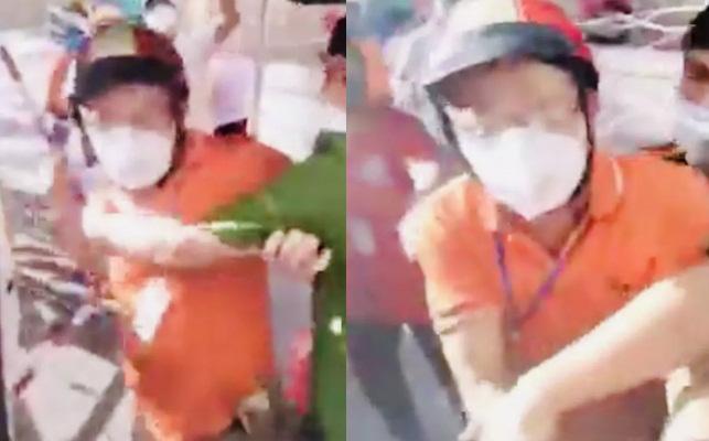"""TP.HCM: UBND quận 7 lên tiếng về clip người làm từ thiện tố bị """"xé rách đồ bảo hộ"""""""