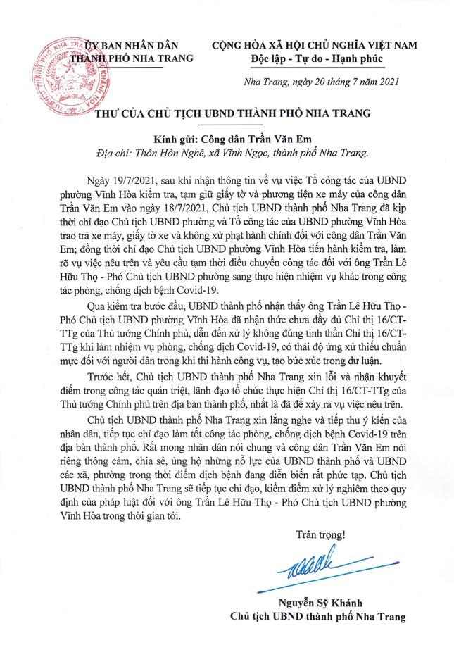 Vụ bánh mì không phải hàng thiết yếu: PCT phường Vĩnh Hòa xin lỗi anh Trần Văn Em - Ảnh 1.