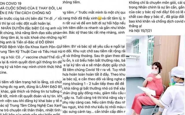 """Phó giám đốc bệnh viện Xanh Pôn nói gì khi người phụ nữ khoe được tiêm vaccine Covid-19 do nhờ """"người anh""""?"""