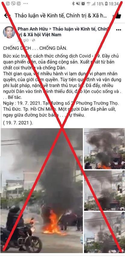 TP. HCM phản hồi thông tin sai sự thật về việc người dân bức xúc tự thiêu tại phường Trường Thọ - Ảnh 1.