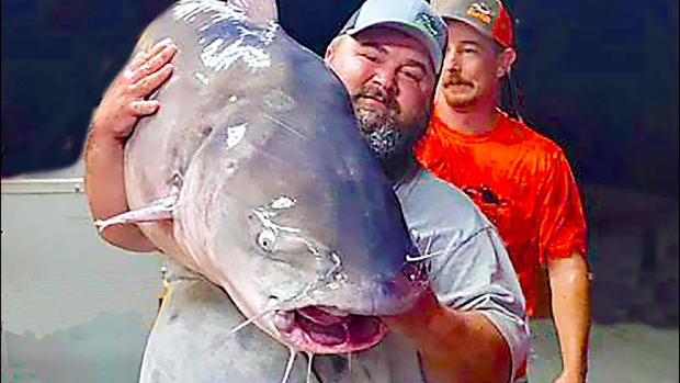 Đang du ngoạn trên sông thì phát hiện con cá trê khổng lồ, người đàn ông Mỹ vội vàng bắt lên rồi sốc nặng trước trọng lượng thật của nó - Ảnh 3.