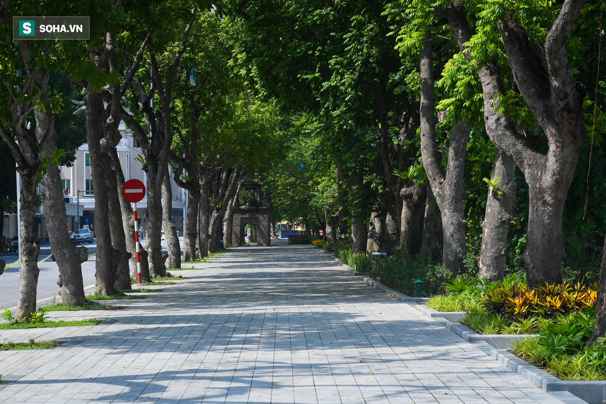 Hà Nội nhiều tuyến phố không một bóng người qua lại trong ngày đầu giãn cách xã hội - Ảnh 2.