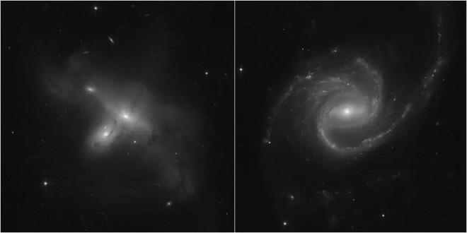 Vừa hoạt động trở lại, kính viễn vọng Hubble đã chụp được ảnh hai vũ trụ va vào nhau - Ảnh 2.