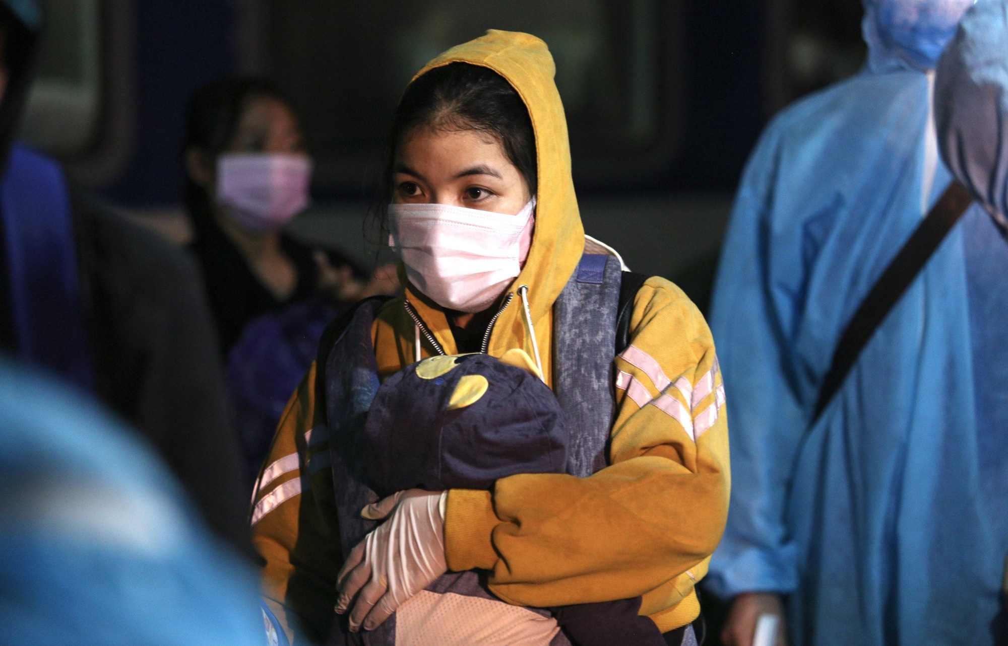 Xúc động đón hơn 800 công dân từ TP.HCM hồi hương về Hà Tĩnh - Ảnh 3.