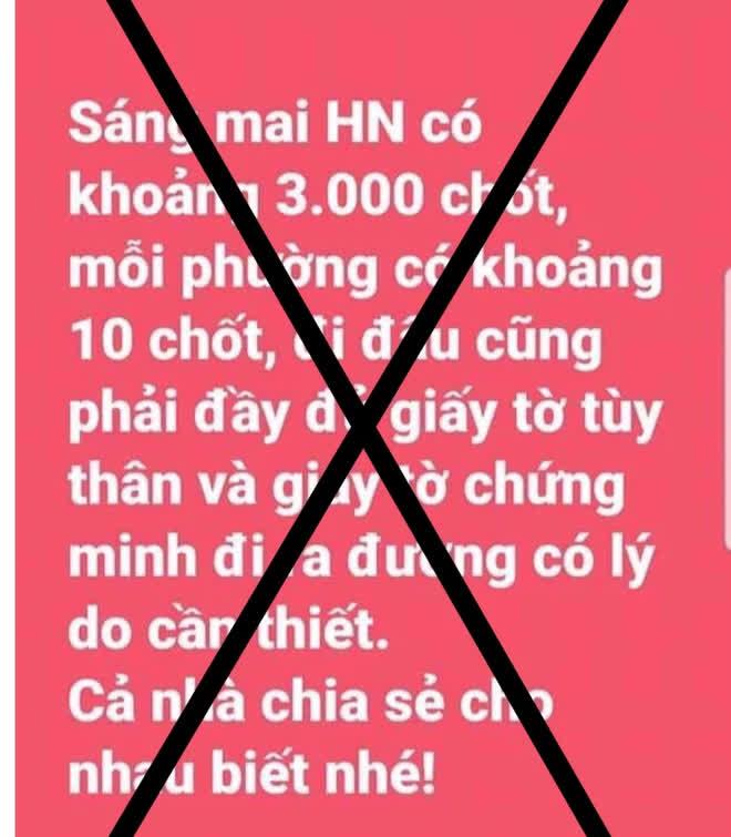 PGĐ Công an Hà Nội: Thông tin sáng mai có khoảng 3.000 chốt, mỗi phường có khoảng 10 chốt là bịa đặt - Ảnh 1.