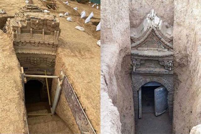 Khai quật mộ cổ, phát hiện bức tranh tường tinh xảo thời nhà Nguyên - Ảnh 1.