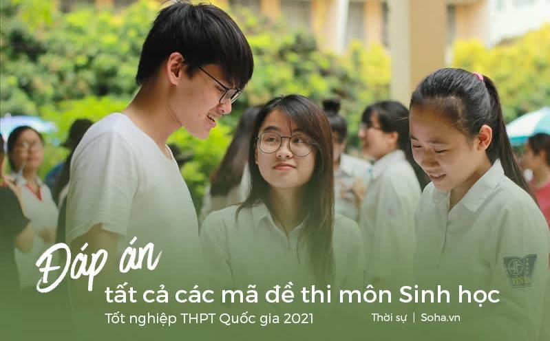 [CẬP NHẬT] Đáp án tất cả các mã đề môn Sinh học kỳ thi THPT Quốc gia 2021