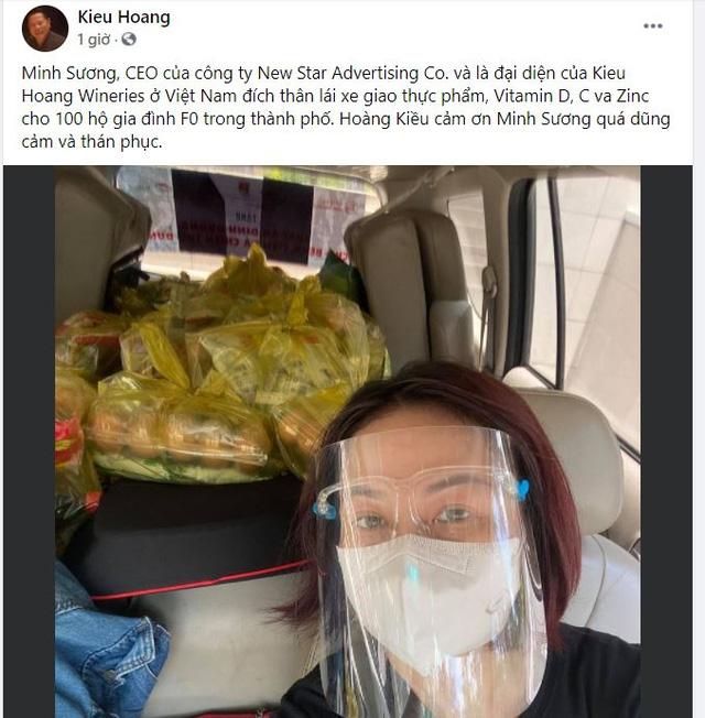 Nhận được hàng loạt lời cầu cứu qua Facebook, tỷ phú Hoàng Kiều từ Mỹ lập tức gửi nhu yếu phẩm cho các F0, F1 khó khăn ở TP.HCM - Ảnh 1.