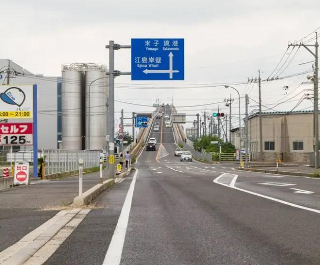 Đằng sau cây cầu dựng đứng như vách núi ở Nhật Bản - Ảnh 4.