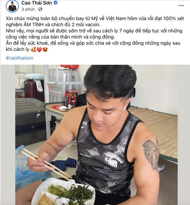 Cao Thái Sơn hiếm hoi hé lộ tình trạng trong khu cách ly, báo tin vui đầu tiên sau khi trở về Việt Nam - Ảnh 1.