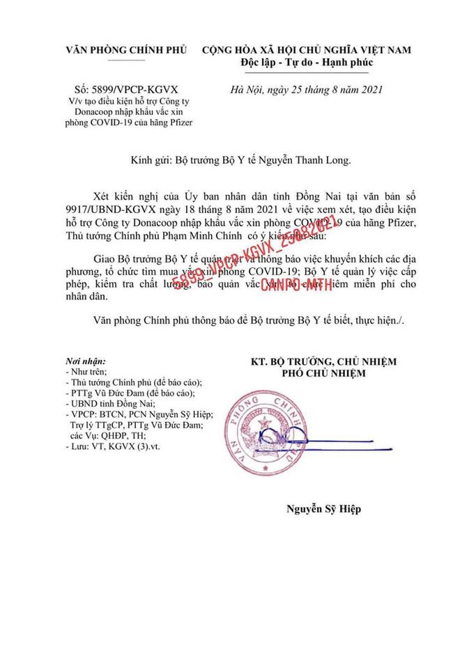 Một đơn vị ở Đồng Nai được phép nhập khẩu 15 triệu liều vắc-xin Pfizer - Ảnh 1.