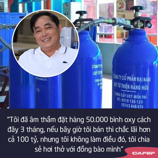 Doanh nhân Huỳnh Uy Dũng: Tôi âm thầm đặt hàng 50.000 bình oxy cách đây 3 tháng, nếu bán có khi lãi cả trăm tỷ, nhưng tôi không làm điều đó, tôi chia sẻ hơi thở với đồng bào mình - Ảnh 2.