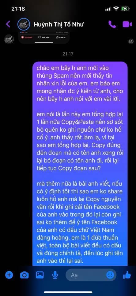 Vụ hot girl Tố Như sao chép kiến thức người khác kiếm tiền: Gymer Duy Quang lên tiếng - Ảnh 3.
