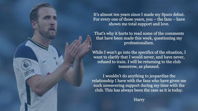Harry Kane lên tiếng trấn an người hâm mộ Tottenham - Ảnh 1.