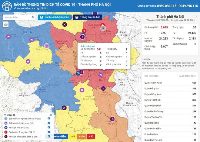 Hướng dẫn tra cứu vùng xanh, vùng đỏ tại Hà Nội, TPHCM. Số ca tử vong do Covid-19 ở TP.HCM từ tháng 9 đã giảm - Ảnh 1.