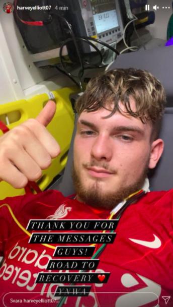 Sao trẻ Liverpool lập tức lên mạng trấn an CĐV sau chấn thương rùng rợn - Ảnh 1.