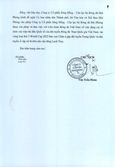 Sự thật việc Hải Phòng xin đăng cai hai trận của tuyển Việt Nam tại vòng loại World Cup - Ảnh 2.