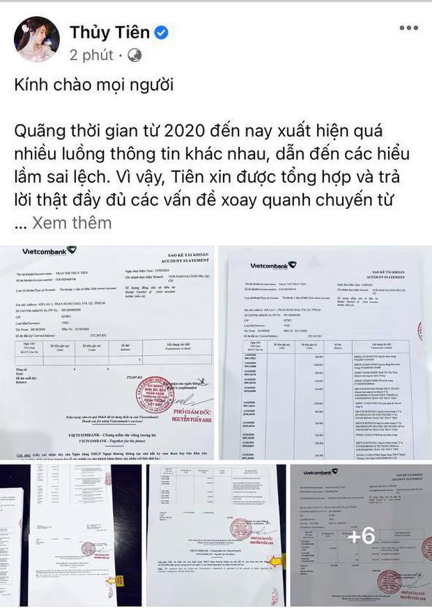 Sau cuộc livestream chóng vánh, Thủy Tiên công bố 18000 trang sao kê, khẳng định sẽ tiếp tục làm từ thiện - Ảnh 2.