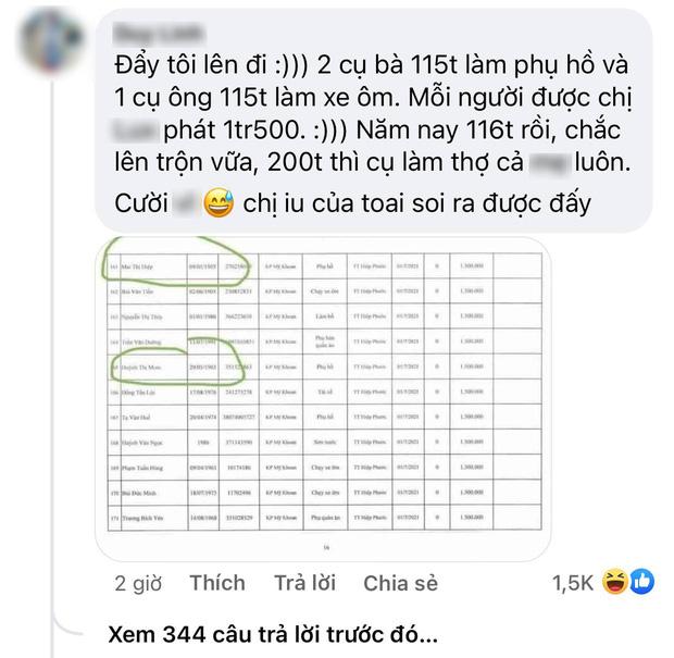 Netizen soi chi tiết khó hiểu trong sao kê của Thuỷ Tiên: 2 cụ già 116 tuổi vẫn được nhận 1,5 triệu tiền trợ cấp? - Ảnh 1.