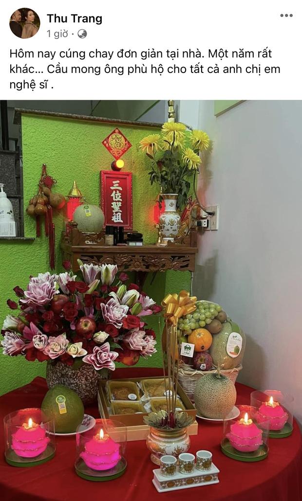 Showbiz Việt ngày Giỗ tổ sân khấu: Lý Hải - Khánh Vân và dàn sao Việt dâng lễ tại gia, Nam Thư muốn khóc vì tủi thân - Ảnh 12.