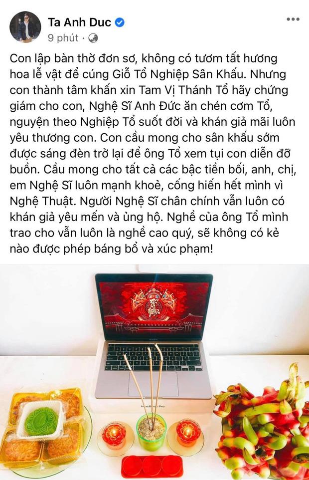 Showbiz Việt ngày Giỗ tổ sân khấu: Lý Hải - Khánh Vân và dàn sao Việt dâng lễ tại gia, Nam Thư muốn khóc vì tủi thân - Ảnh 14.