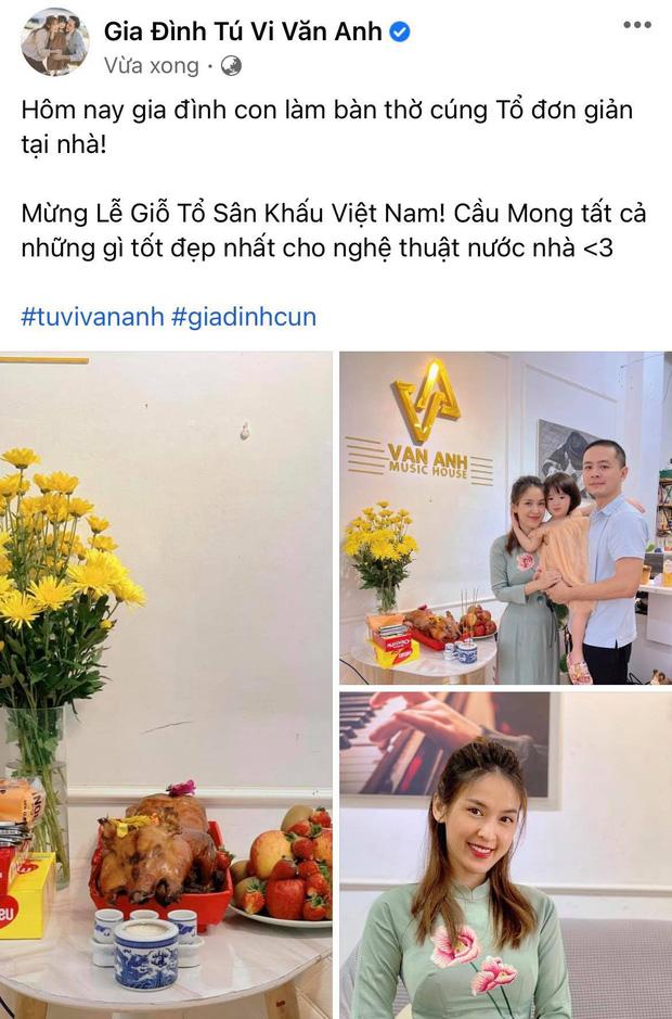 Showbiz Việt ngày Giỗ tổ sân khấu: Lý Hải - Khánh Vân và dàn sao Việt dâng lễ tại gia, Nam Thư muốn khóc vì tủi thân - Ảnh 26.