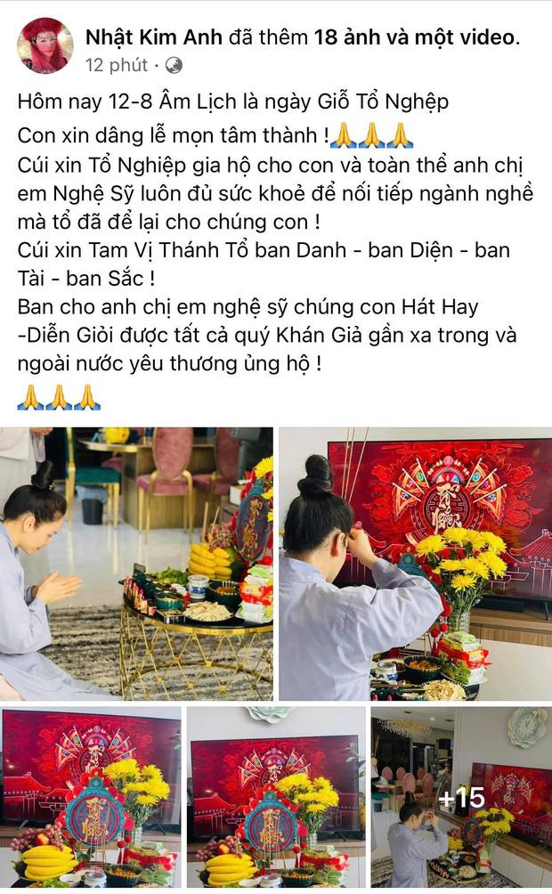 Showbiz Việt ngày Giỗ tổ sân khấu: Lý Hải - Khánh Vân và dàn sao Việt dâng lễ tại gia, Nam Thư muốn khóc vì tủi thân - Ảnh 4.