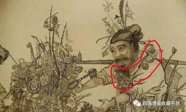 Phóng to bức tranh cực khó hiểu trong Bảo tàng Cố Cung, hậu thế rùng mình: Người đàn ông này có 27 con mắt! - Ảnh 3.