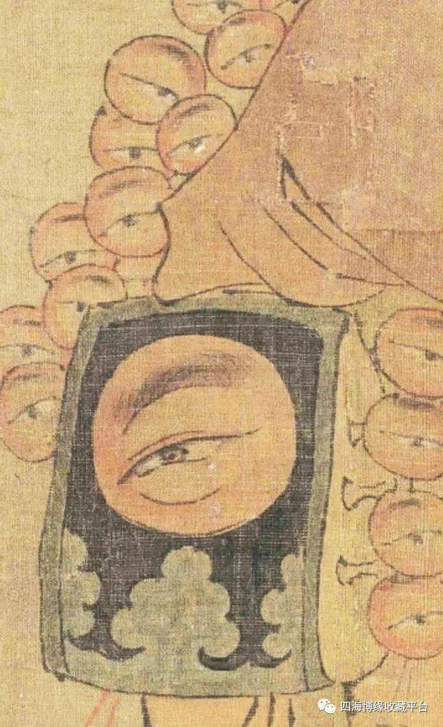Phóng to bức tranh cực khó hiểu trong Bảo tàng Cố Cung, hậu thế rùng mình: Người đàn ông này có 27 con mắt! - Ảnh 4.