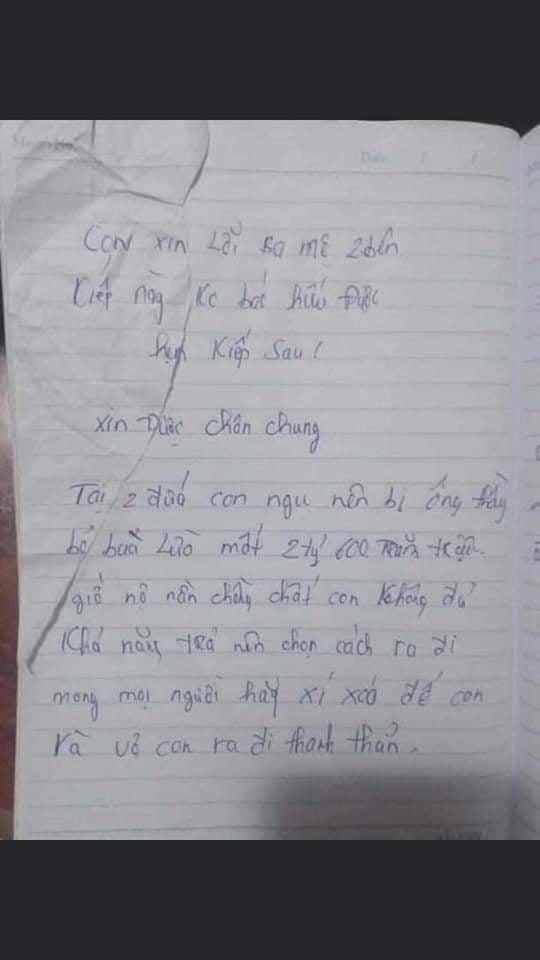 Đôi nam nữ mới đính hôn cùng tự tử ở Quảng Nam, bức thư tuyệt mệnh nêu lý do đau đớn - Ảnh 1.