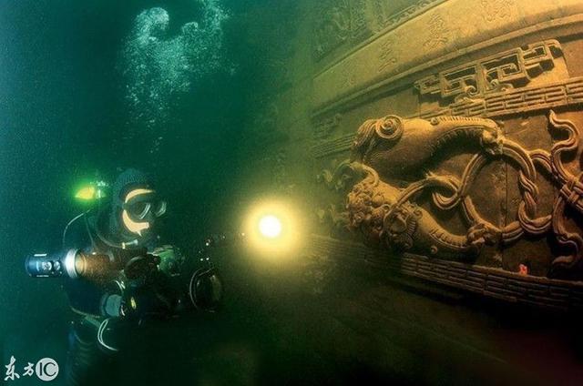 Các nhà khảo cổ kinh ngạc trước Thành phố Sư tử 1.000 năm tuổi dưới đáy hồ ở Trung Quốc: Nền văn minh bị lãng quên sau trận đại hồng thủy - Ảnh 1.