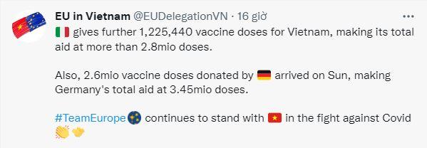 Trong 1 tuần, quốc gia EU 2 lần viện trợ lượng vaccine khủng cho Việt Nam; Bệnh nhân Covid-19 sống sót sau khi bị virus ăn sạch 2 lá phổi - Ảnh 1.