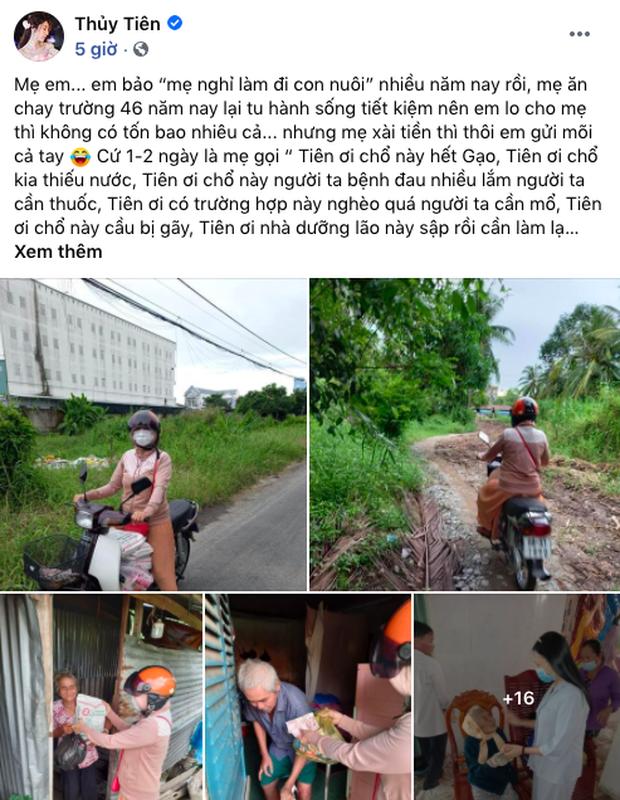 Thủy Tiên từng kể chuyện mẹ ruột: 46 năm ăn chay trường, bắt gửi tiền cho người khó khăn nhiều đến choáng váng - Ảnh 1.