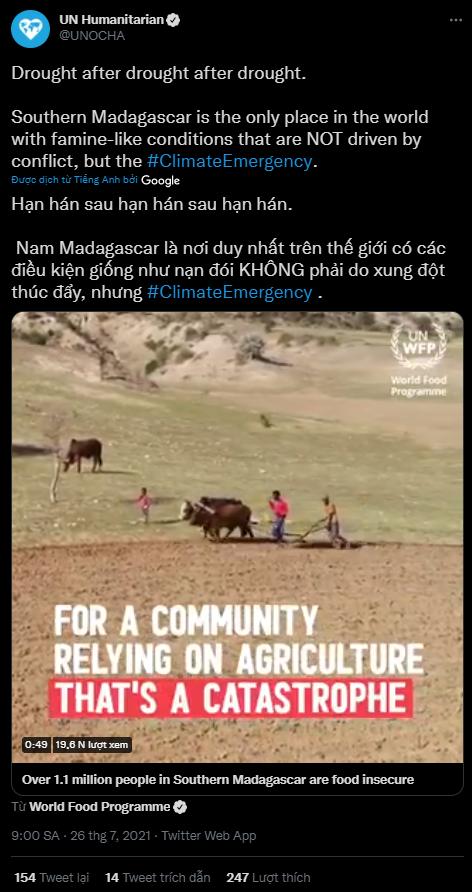 Đáng báo động, Madagascar đang trải qua nạn đói đầu tiên trên thế giới hoàn toàn do biến đổi khí hậu gây ra - Ảnh 2.