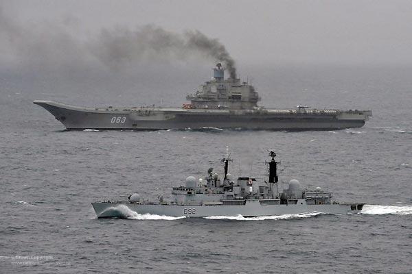 Mỹ và các nước đồng minh sẽ giữ một con mắt thận trọng đối với tàu sân bay của Nga phòng nó khi nó tự chìm.