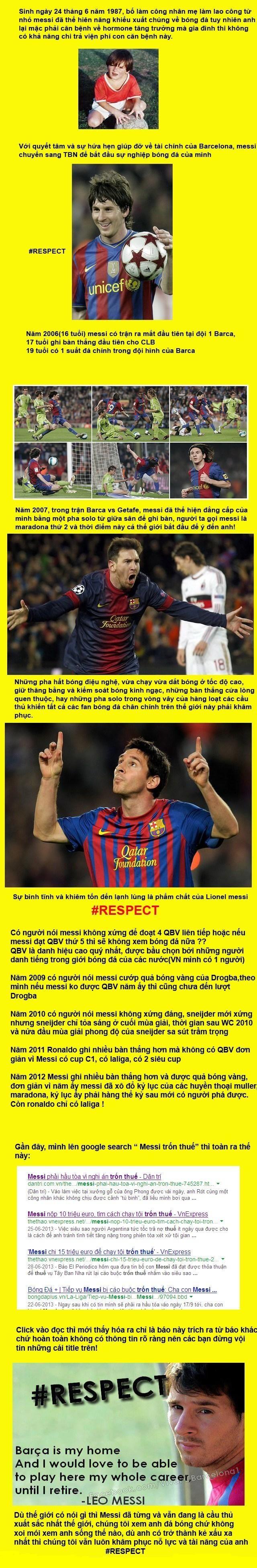 Hãy tôn trọng Messi