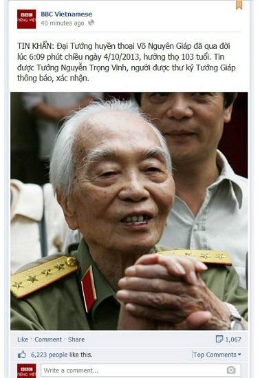 Đại tướng Võ Nguyên Giáp từ trần: Hàng ngàn giọt nước mắt xót xa