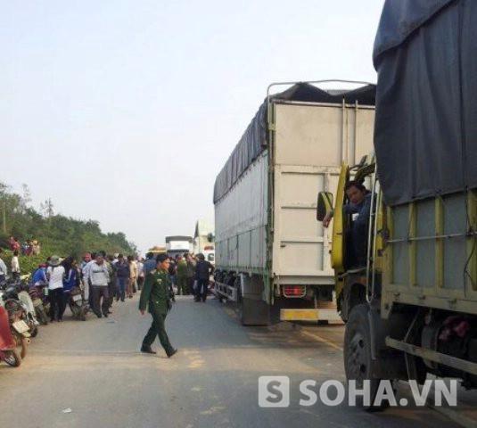 Vụ tai nạn khiến đoạn đường bị tắc nghẽn hàng km