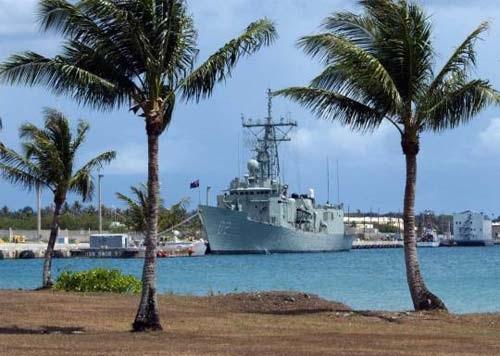 Một phần cảng Apra ở Guam