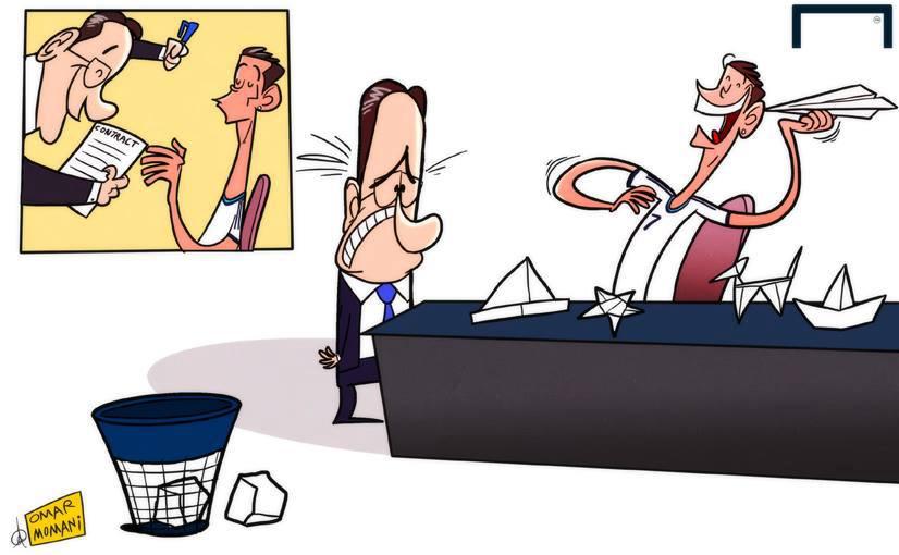 Ronaldo mang hợp đồng của ngài Perez ra để chơi trò gập giấy