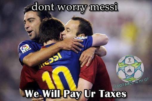 Đừng lo Messi, các anh sẽ trả hộ tiền thuế cho chú!
