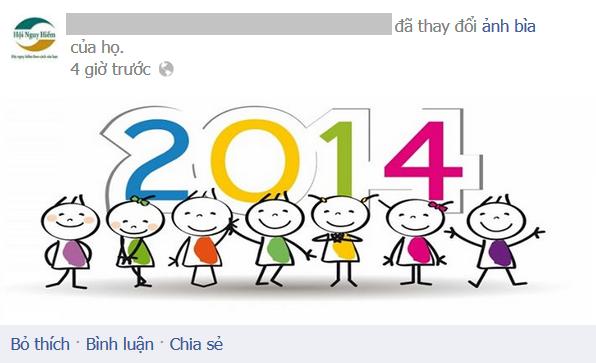 Một số fanpage cũng đã thay đổi ảnh bìa chào đón năm 2014.