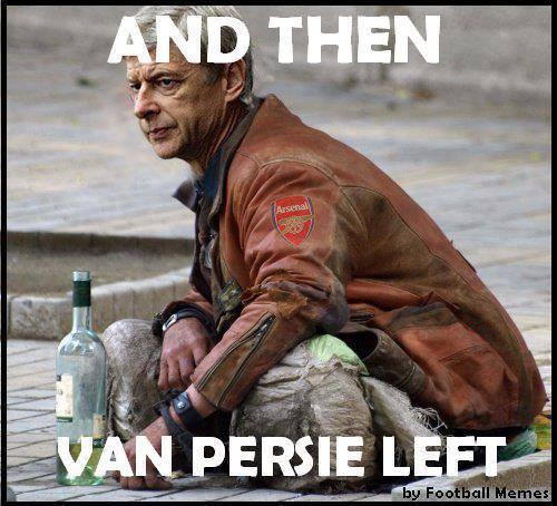Wenger tàn tạ sau khi Van Persie ra đi